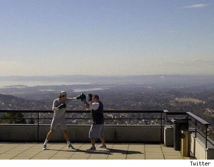 Harry Styles boxing One Direction getting in shape