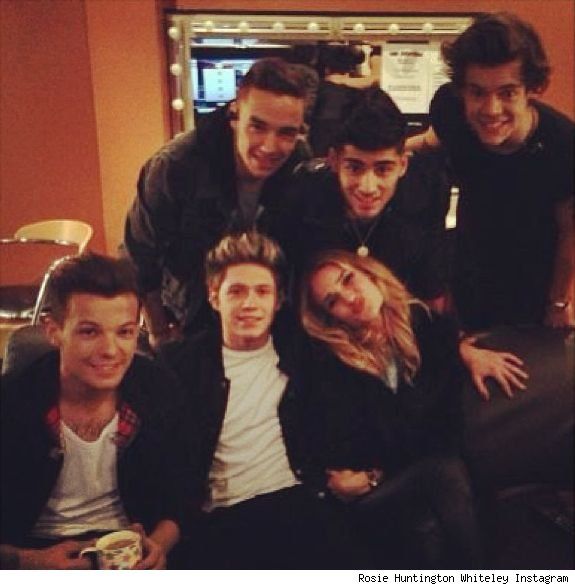One Direction Rosie Huntington Whiteley backstage concert