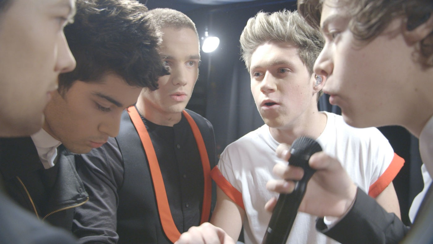 One Direction This is Us unscripted Harry calls it scary