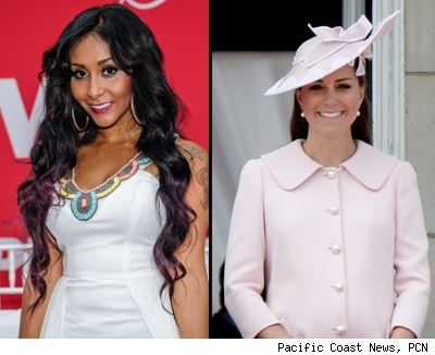 kate middleton, nicole polizzi, royal baby, snooki