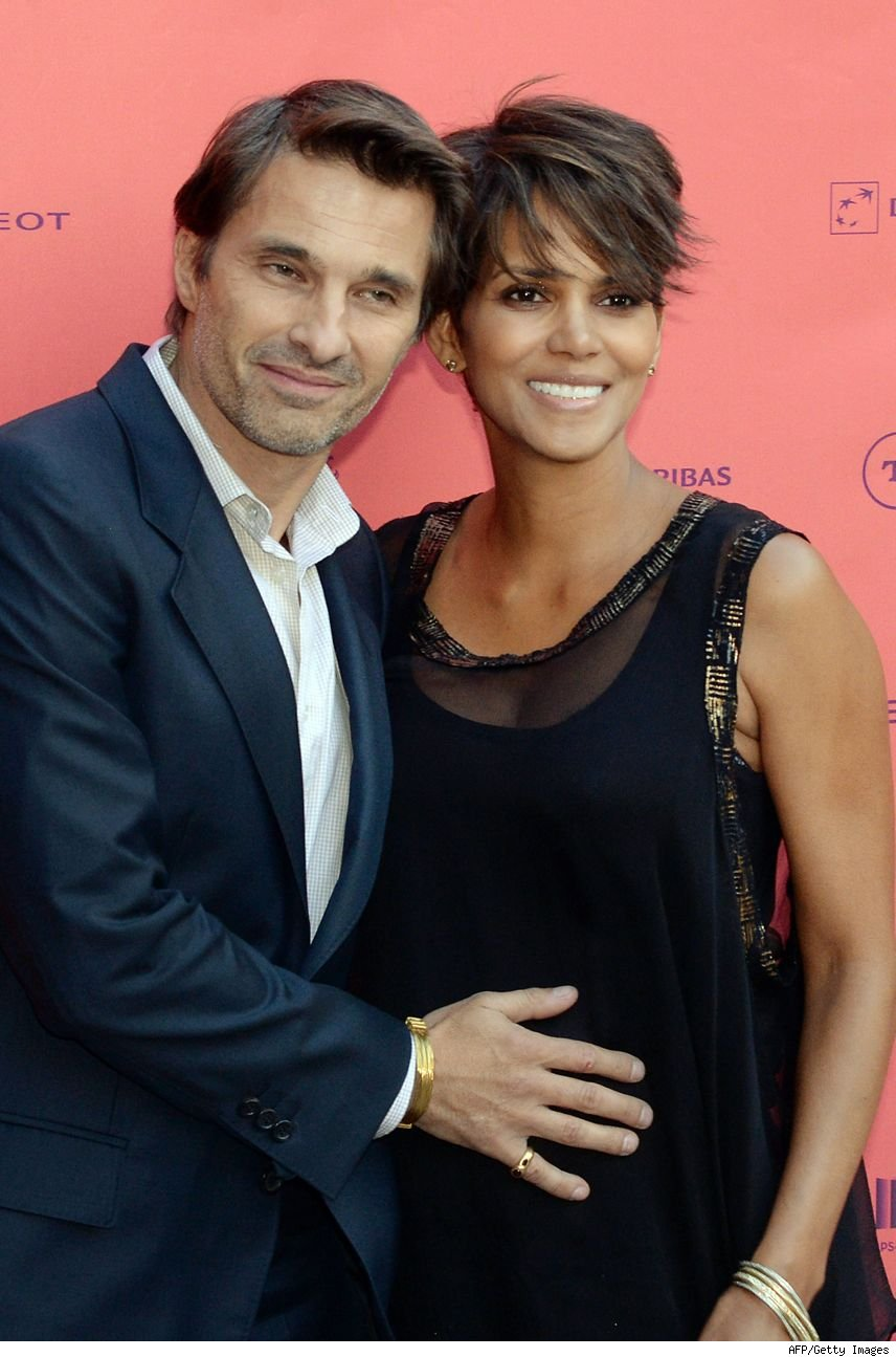 Olivier Martinez with beautiful, sexy, cute, Wife Halle Berry