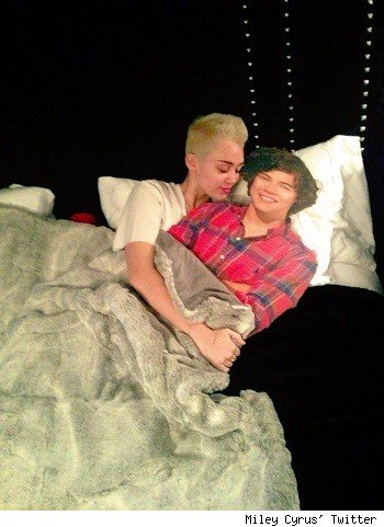 Miley Cyrus and Harry Styles
