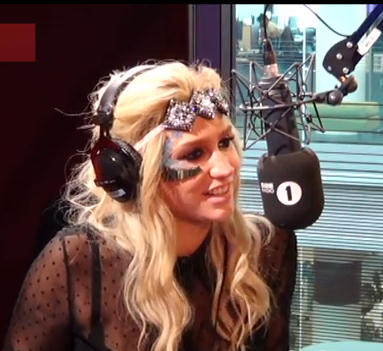 Kesha and Harry Styles flirty on BBC1 radio Nick Grimshaw video