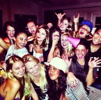 Selena Gomez and her friends