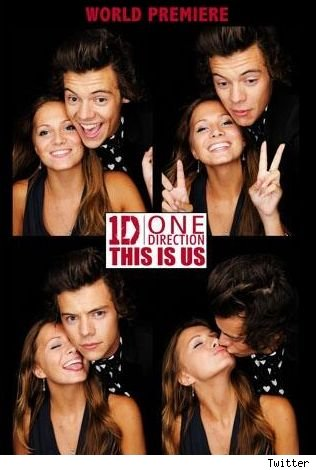 Harry Styles kissing mystery girl One Direction This Is Us after party photobooth