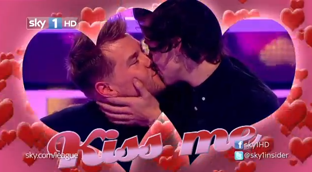 Harry Styles kisses James Corden video A League of Their Own