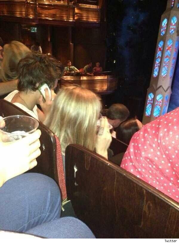 Harry Styles and Cara Delevingne theater pic
