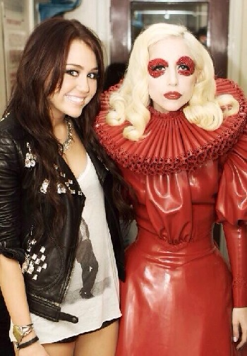lady gaga, miley cyrus