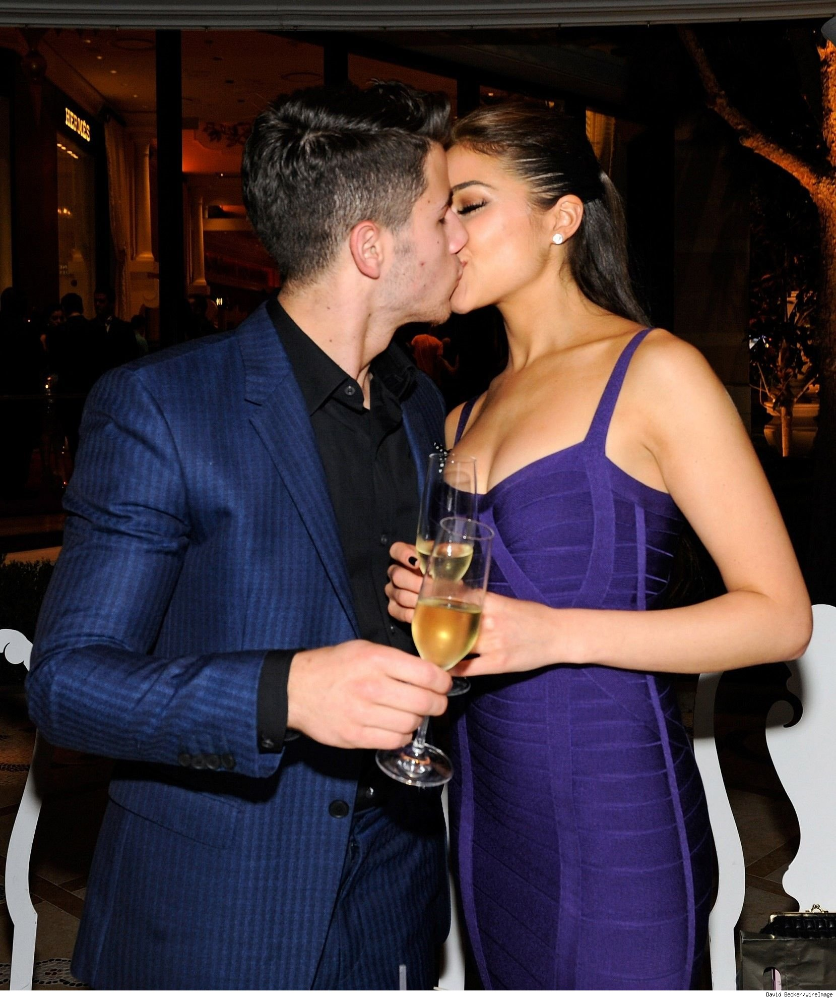 Nick Jonas birthday kissing Olivia Culpo pic