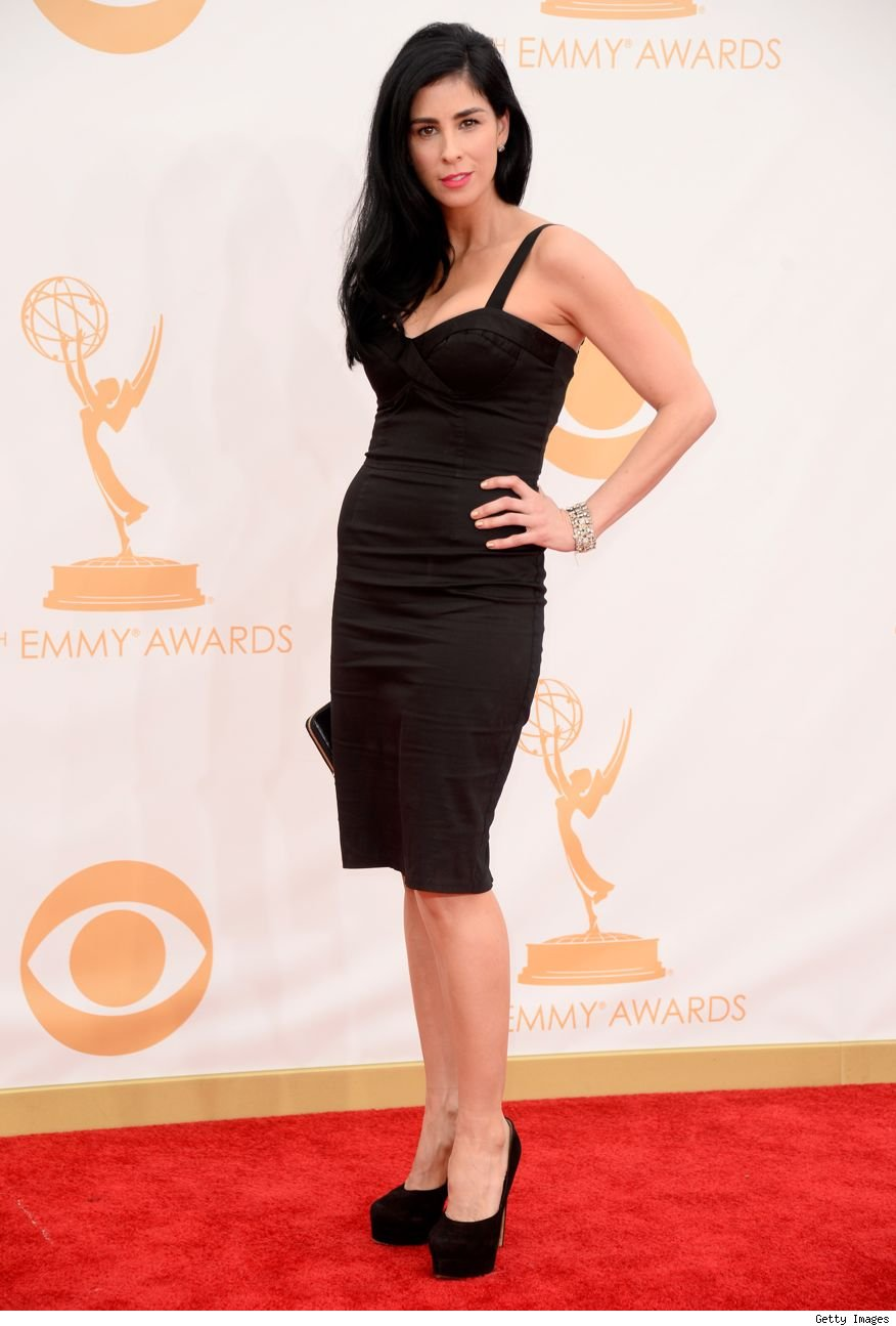 Sarah Silverman 60 dress Emmys 2013