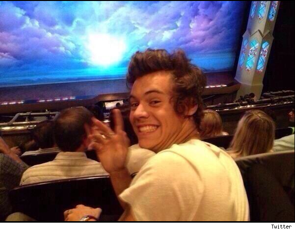 Harry Styles and Cara Delevingne Book of Mormon pics