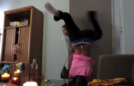 Twerking fail video girl catches fire