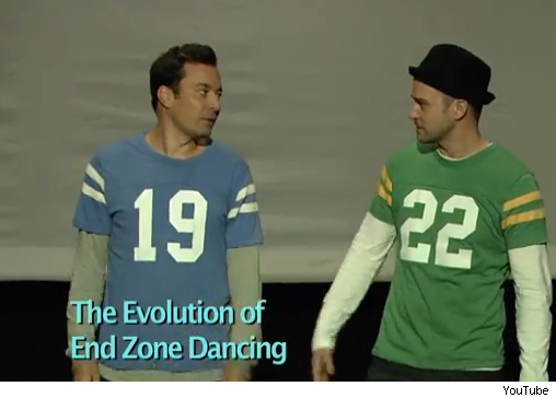 Jimmy Fallon Justin Timberlake Evolution of End Zone Dancing touchdown video