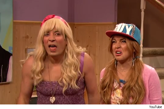 Lindsay Lohan and Jimmy Fallon ew video