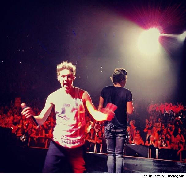 One Direction diss Miley Cyrus during concert video wrecking ball twerking we cant stop