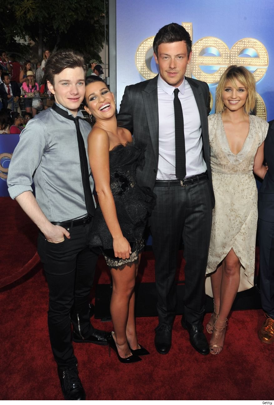 Dianna Agron not invited to Glee Cory Monteith tribute episode fight lea Michele