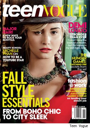 Demi Lovato Teen Vogue body image happiness boyfriend