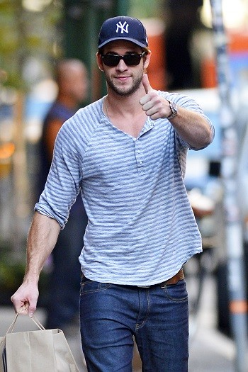 Liam Hemsworth in New York City