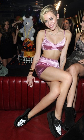 Miley Cyrus at the Bangerz premiere party in New York City