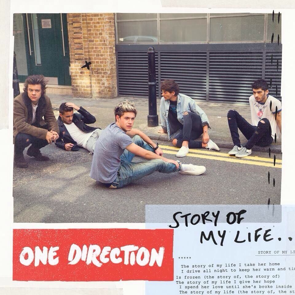 One Direction Story of My Life lyrics art cover