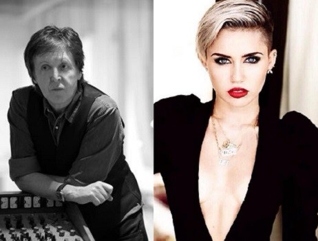 Paul McCartney and Miley Cyrus