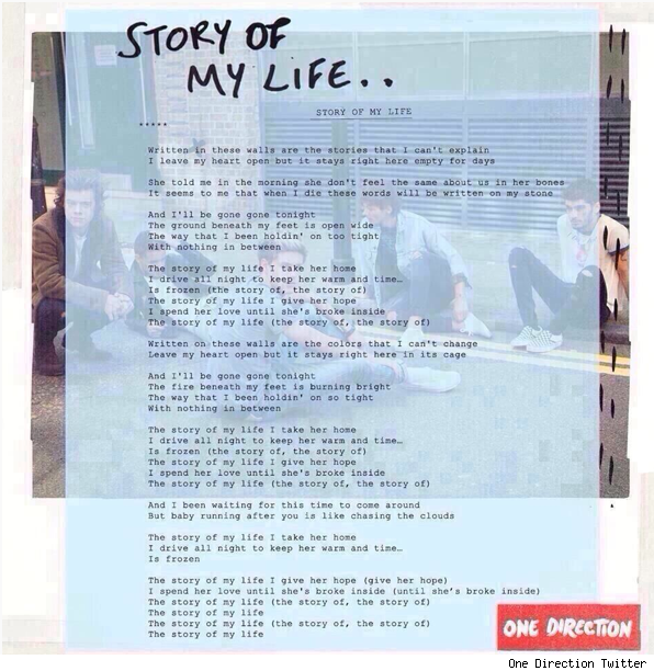 Listen One Direction Story of My Life full version lyrics
