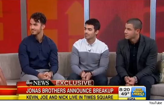 Jonas Brothers GMA Good Morning America breakup video