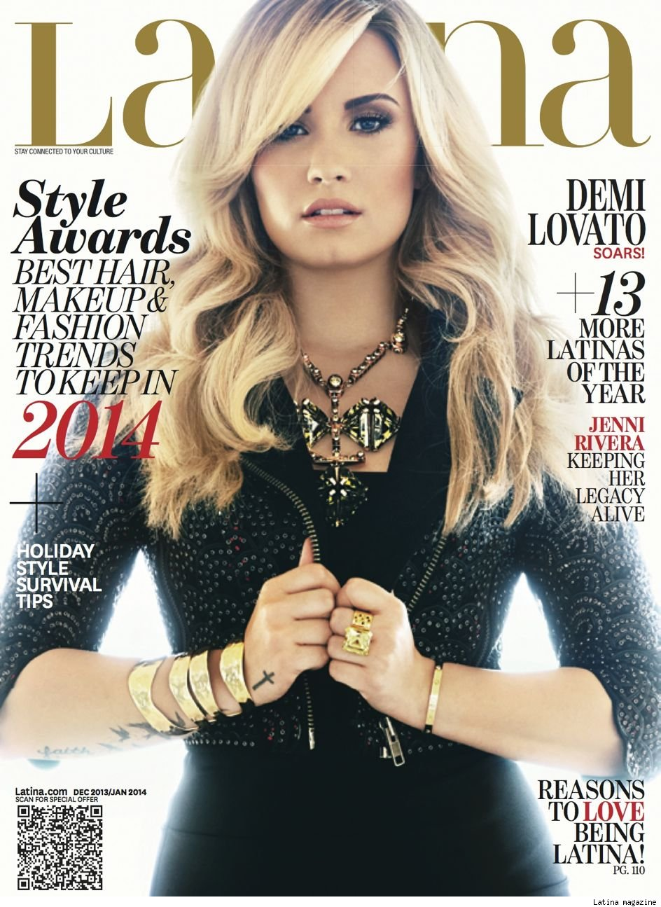 Demi Lovato pregnant Latina magazine mom 10 years cover pic