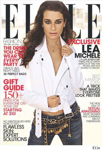 Lea Michele talks Cory Monteith death Elle magazine