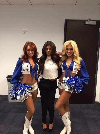 Selena Gomez and Dallas cheerleaders