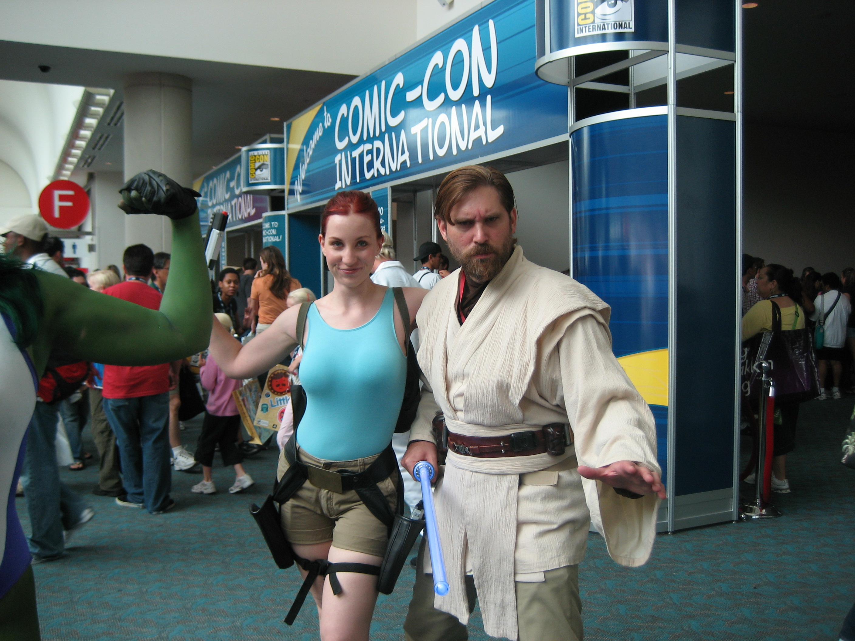 Obi Wan Kenobi and Lara Croft