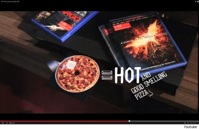 Domino's Pizza Brazil creates DVD movies that smell like pizza