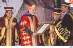 Mukerjee bats for vocational training, confers honorary degree on Karzai