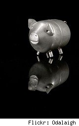metal piggy bank
