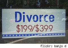 divorce on the cheap