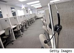 empty telemarketing center