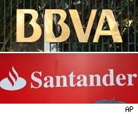 Spanish banks BBVA and Santandar looking risky