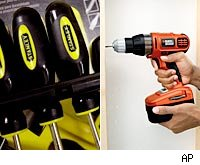 black &amp; decker and stanley works tools