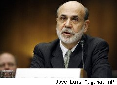 The Federal Reserve is ready to step in if the economy gets worse, Chairman Ben Bernanke said Thursday, sending stocks soaring.