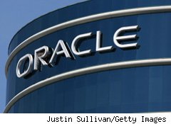 Oracle's fiscal second-quarter profit grew 28% from a year ago as sales surpassed expectations.