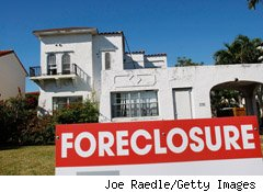 Foreclosures soared in August, with banks repossessing more than 95,000 properties -- a 25% increase from the same month last year.