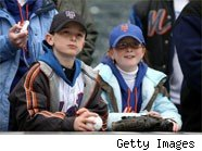 Baseball fans at Citi Field