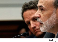 Ben Bernanke and Timothy Geithner at Lehman Brothers hearing