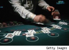 blackjack, speculative bets on Wall Street, like naked CDOs