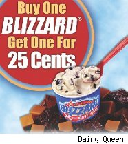 Dairy Queen Blizzard coupon