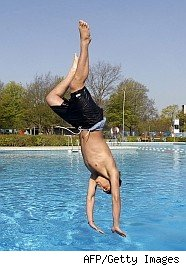 Swimming is on the May monthly planner