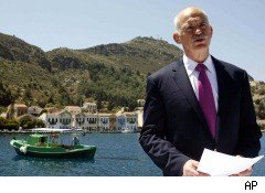 Greece Finance Minister George Papandreou Greek debt rescue