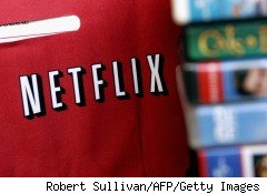 Netflix DVD rentals in the familiar red envelope attracted 1.7 million more movie subscribers, boosint first-quarter earnings to $32.3 million, or 59 cents per share.