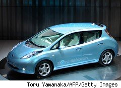 Nissan Starts Taking Orders for All-Electric Leaf Car