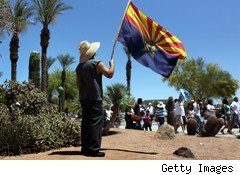 Arizona flag protest